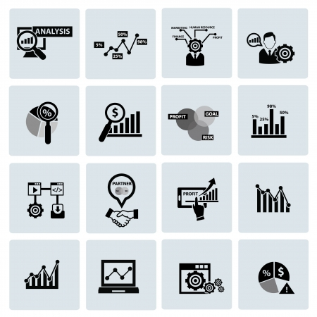 Business Analysis concept icons,on white background Illustration