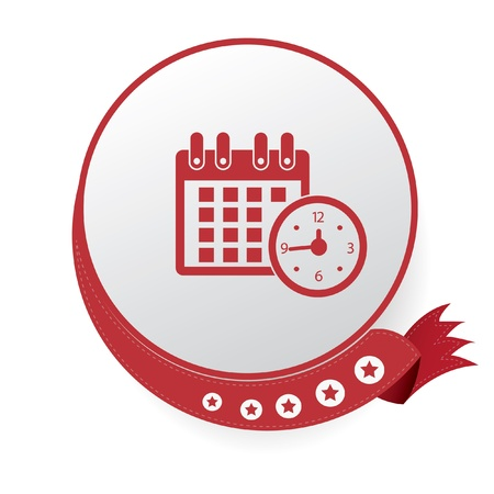 Time Calendar symbol,White background Stock Vector - 20761793