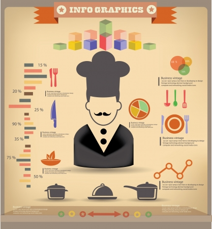Cooking information graphics Vector