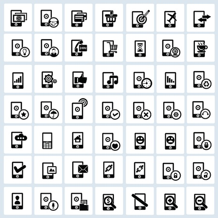 Mobile phone icons,Mobile technology icons Stock Vector - 20761818