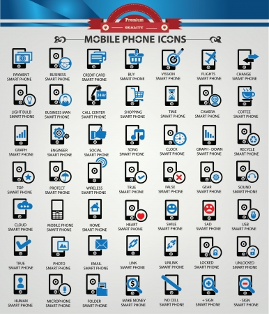 Smart phone,Communication ,Technology icons,Blueicon version,vector