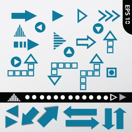 indexes: Blue arrows,vector