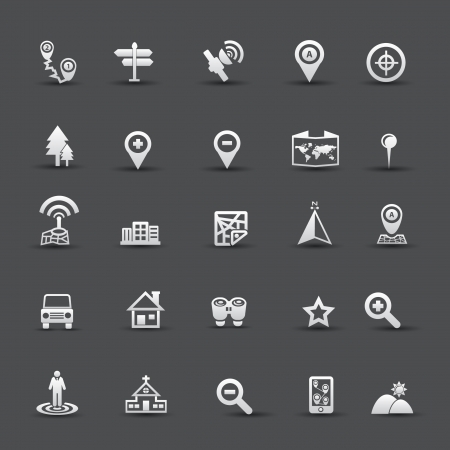 Map and Navigator icons,vector Vector