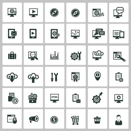 SEO icons Stock Vector - 20699251