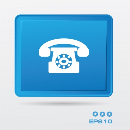 Telephone symbol Stock Vector - 20836106