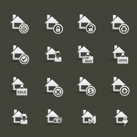 House icons Stock Vector - 20836111