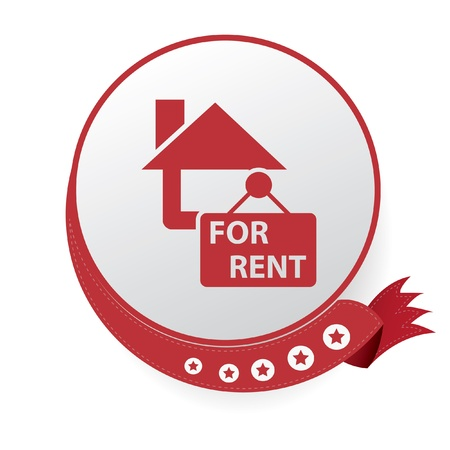 For rent, house symbol Vector