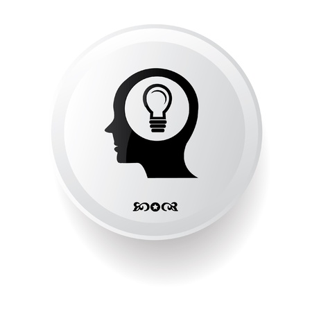 할로겐: 흰색 배경에 아이디어 상징, 일러스트