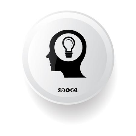 Ideas symbol,on white background Stock Vector - 20810759