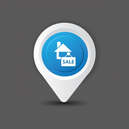 Sale house symbol Stock Vector - 20810793