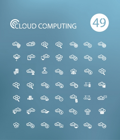 Cloud computing icons,on Blue background version Stock Vector - 20836128