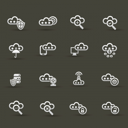 Cloud computing icons,Set 3 Stock Vector - 20836135