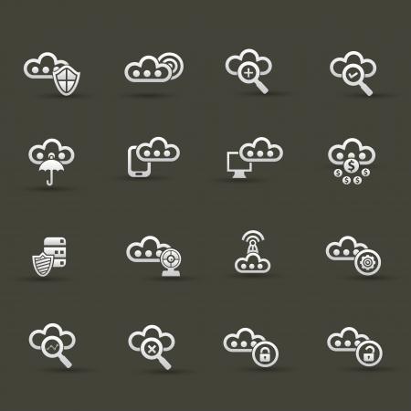 Cloud computing icons,Set 3 Stock Vector - 20836135