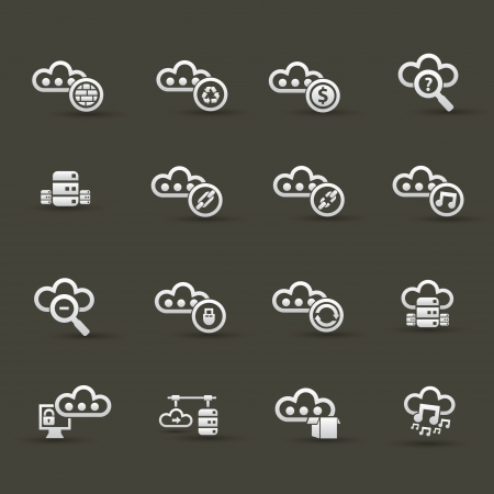 Cloud computing icons,Set 2 Stock Vector - 20836136