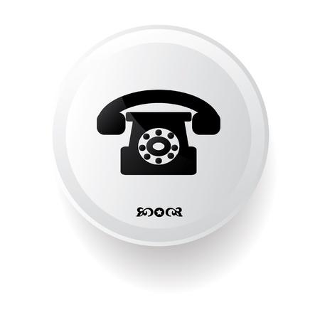 Telephone symbol Stock Vector - 20836139