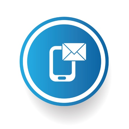 Email on mobile phone Stock Vector - 20836162