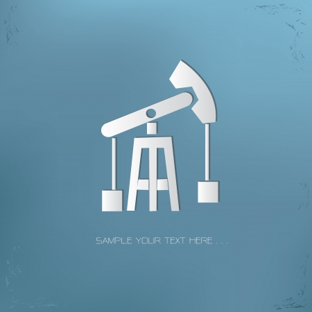 petroleum: S�mbolo de la Industria Vectores