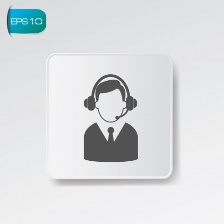 Call center symbol,vector Vector