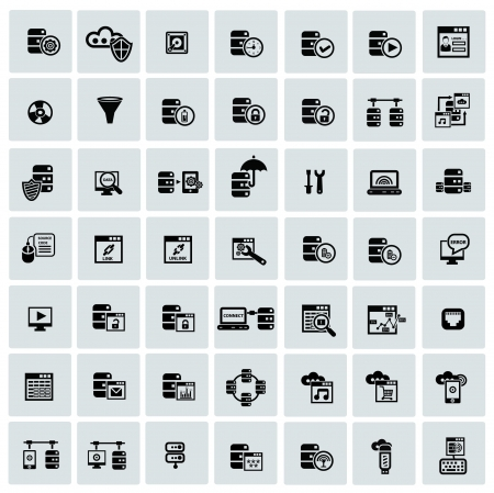 Database system and Data security icons Stock Vector - 21126118