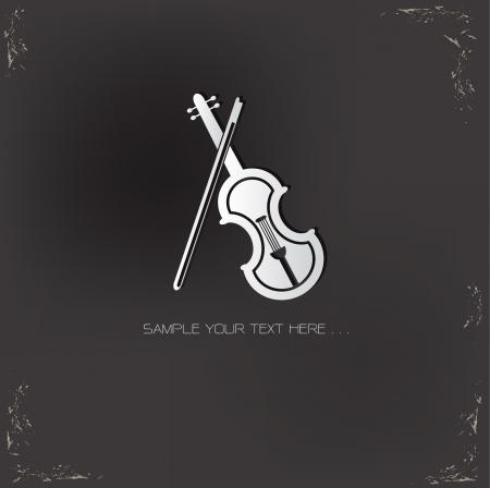 Violin symbol,vector Stock Vector - 21125814