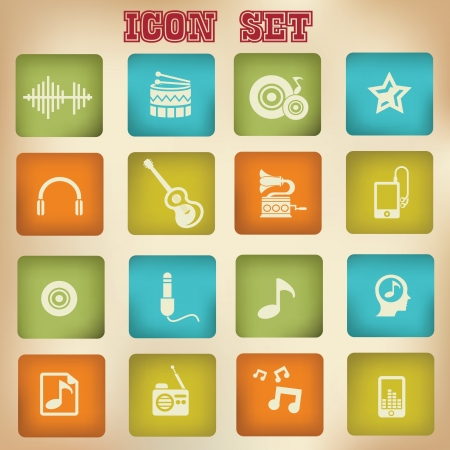 Music vintage icons Stock Vector - 21123403