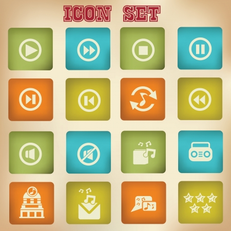 Music vintage icons Vector