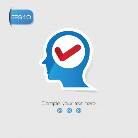 True Brain Thinking symbol,vector Stock Vector - 21125829