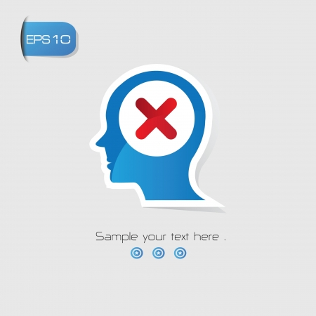 False Brain Thinking symbol,vector Stock Vector - 21125830