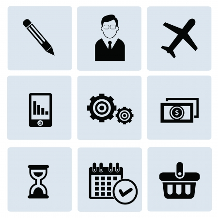 Business concept icons,vector Stock Vector - 21275599