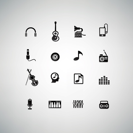 Music icons,vector Vector