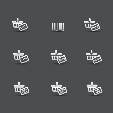 woman credit card: Shopping icons,vector