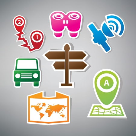 Map symbol,vector Vector