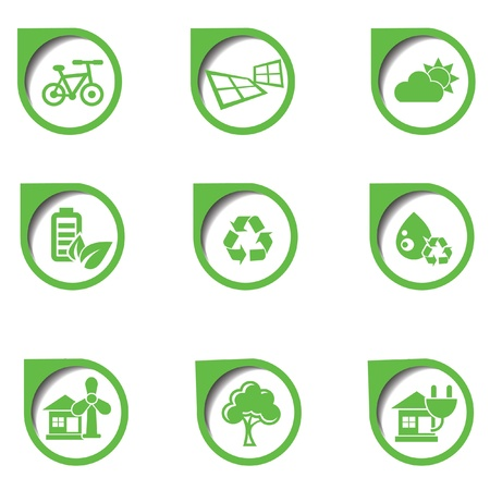 antipollution: Ecology icon,on white background,vector Illustration