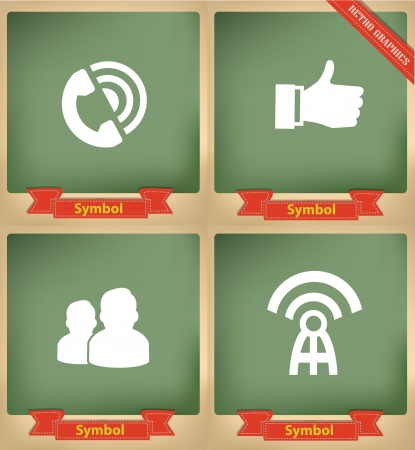 Social icons on blackboard,vector Vector