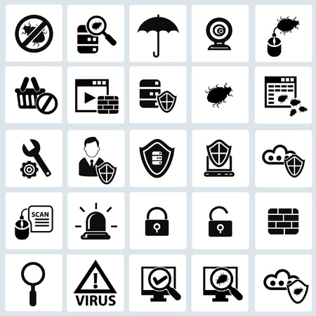 Security computer icons,vector Vector