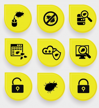 Virus computer buttons,vector Stock Vector - 21283208