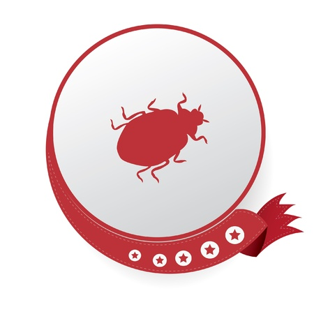 Bug sign,vector Vector