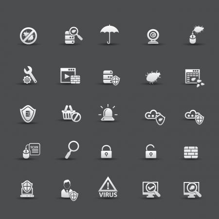 Virus computer icons,vector Stock Vector - 21283225