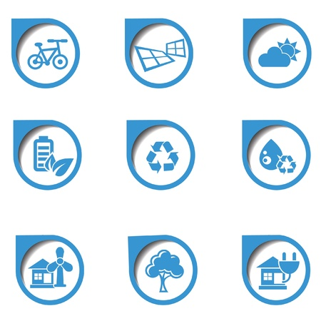 Ecology icon,on white background,vector Vector