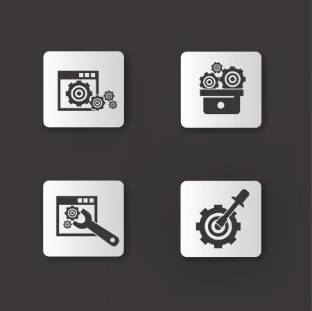 dag: Gears icons,vector