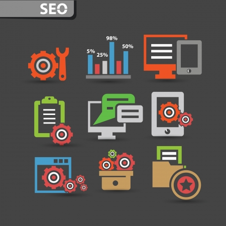 Seo icons and software icons,vector Vector