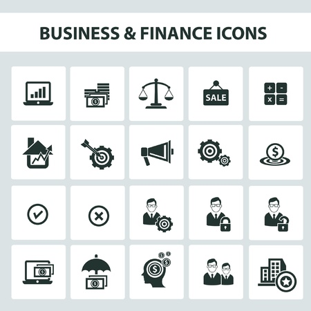 e auction: Business and finance icons Illustration