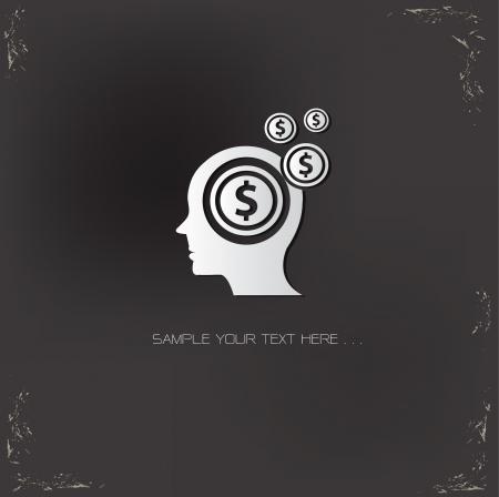 Brain Finance symbol,vector Vector
