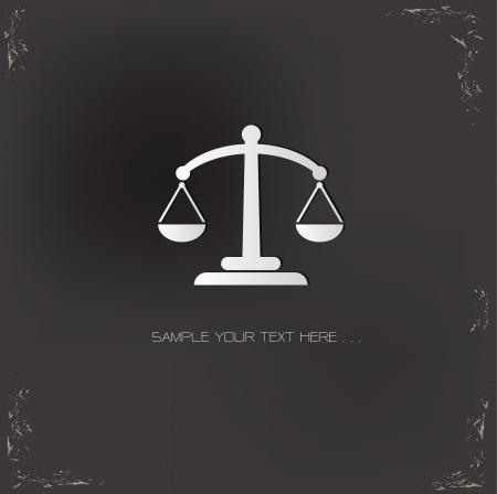 acquittal: Balance symbol,vector Illustration