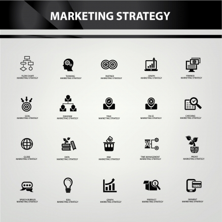 Marketing strategy icons,vector Vector