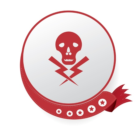 deadly danger sign: Danger sign,vector