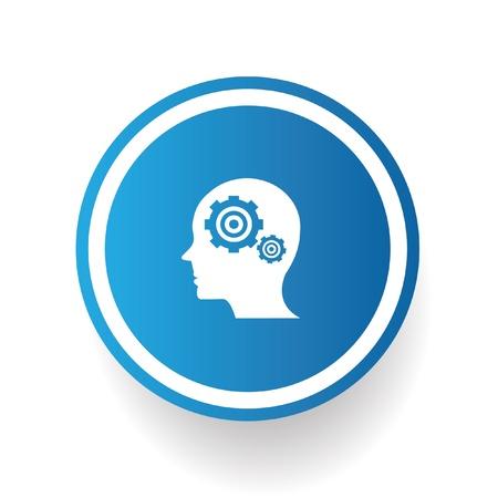 Gears brain symbol,vector Vector