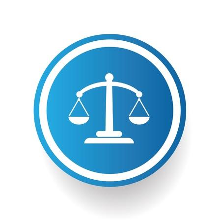 delincuencia: Símbolo de balance, vector Vectores