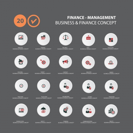Iconos en estrategia de marketing, vector