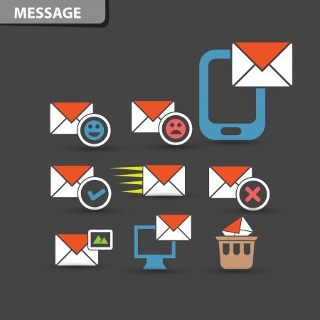 Message icons,vector Vector